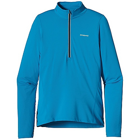 Free Shipping. Patagonia Men's L-S All Weather Top DECENT FEATURES of the Patagonia Men's All Weather Long Sleeve Top Durable polyester/spandex knit with breathable Air Flow mesh in the back to ventilate heat Deep zip ventilates and covers the neck for sun protection Hidden low profile thumb loops Reflective center front zipper reflective logo on front and center back The SPECS Slim fit Weight: 8.6 oz / 244 g 5.6-oz 88% polyester/12% spandex Panel: 3.2-oz 100% polyester Air Flow mesh All with Polygiene permanent odor control This product can only be shipped within the United States. Please don't hate us. - $65.00