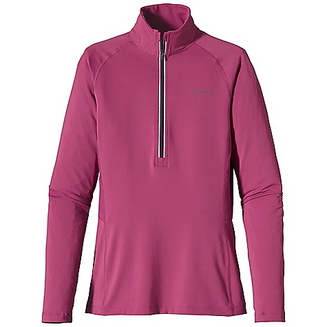 Free Shipping. Patagonia Women's All Weather Top DECENT FEATURES of the Patagonia Women's All Weather Top Durable polyester/spandex knit with breathable Air Flow mesh in the back to ventilate heat Deep zip ventilates and covers the neck for sun protection Hidden low profile thumb loops Reflective center front zipper; reflective logo on front and center back neck The SPECS Slim fit Weight: 7.1 oz / 201 g 5.6-oz 88% polyester 12% spandex Panel: 3.2-oz 100% polyester Air Flow mesh. All with Polygiene permanent odor control This product can only be shipped within the United States. Please don't hate us. - $65.00