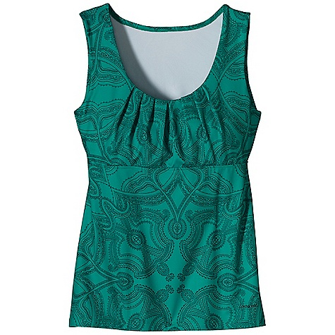 Free Shipping. Patagonia Women's Bandha Top DECENT FEATURES of the Patagonia Women's Bandha Top Soft and Stretchy Synthetic Jersey-Knit Fabric Wicks Moisture, Dries Quickly and has a Brushed Face Feminine Scoop-Neck Top with Soft Pleats on Bodice Double-Fabric Bodice and Under Bust Seam for Support Hip Length The SPECS Slim fit 5.4 oz 85% Polyester, 15% Spandex Brushed Jersey Knit with Moisture-Wicking Performance This product can only be shipped within the United States. Please don't hate us. - $59.00