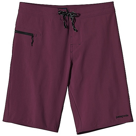 Surf Free Shipping. Patagonia Men's Stretch Wavefarer Board Short DECENT FEATURES of the Patagonia Men's Stretch Wavefarer Board Short Made of a lightweight stretch-woven nylon/spandex fabric, with a DWR finish and 40-UPF sun protection Contoured self-lined waistband has been updated this season for a more secure fit flat-lying fly with a single rubber button ladder-lock drawstring closure turned, bartacked drawstring is durable and adds security Self-draining pocket on right thigh has a non-corrosive, recyclable plastic zipper, internal key loop and added zipper pull for ease of use Forward inseam at crotch eliminates skin chafe improved seat design for ease of movement straightened side seam for mobility Hem hits at the knee The SPECS Regular fit Outseam: 21in. Weight: 5.7 oz / 161 g 4.5-oz 96% nylon/4% spandex, with a DWR finish and 40-UPF sun protection This product can only be shipped within the United States. Please don't hate us. - $69.00