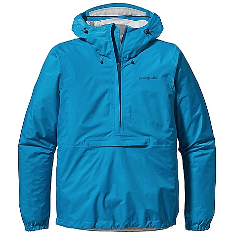 Free Shipping. Patagonia Men's Torrentshell P-O DECENT FEATURES of the Patagonia Men's Torrentshell P/O H2No Performance Standard with waterproof/breathable 2.5-layer nylon ripstop repels moisture 2-way-adjustable hood with laminated visor rolls down and stows Microfleece-lined neck provides comfort and protects waterproof/ breathable barrier Chest deep, center-front zipper features minimal welt exterior and interior storm flaps that create a zipper-garage chin guard Drop-in, center-front torso pocket with welted exterior storm flap and DWR-treated zippers Re-engineered pattern for improved fit Elasticized cuffs and adjustable drawcord hem seal out moisture Stows in self-stuff torso pocket with carabiner clip-in loop The SPECS Regular fit Weight: 10.8 oz / 309 g H2No Performance Standard Shell: 2.5-layer, 2.6-oz 50-denier 100% nylon ripstop with a waterproof/breathable barrier and a Deluge DWR (durable water repellent) finish This product can only be shipped within the United States. Please don't hate us. - $119.00