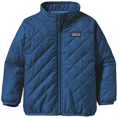 Free Shipping. Patagonia Baby Nano Puff Jacket DECENT FEATURES of the Patagonia Baby Nano Puff Jacket Lightweight, wind-resistant polyester shell has high tear-strength and Deluge DWR finish Warm and incredibly lightweight 60-g Prim aloft One 100% polyester insulation Unique quilt pattern holds insulation in place Full-zip front with internal wind flap and zipper garage; two zippered hand warmer pockets with reflective pulls Spandex binding at sleeve opening Hand-me-down ID label The SPECS Relaxed fit Weight: 5.7 oz / 162 g Shell: 1.4-oz 20-denier polyester mini-ripstop Lining: 2-oz 100% polyester plain weave. Both with a Deluge DWR (durable water repellent) finish Insulation: 60-g PrimaLoft One 100% polyester This product can only be shipped within the United States. Please don't hate us. - $79.00