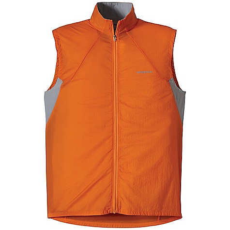 Free Shipping. Patagonia Men's Nine Trails Vest DECENT FEATURES of the Patagonia Men's Nine Trails Vest Made of Durable Triple-Ripstop Nylon with Breathable Recycled Polyester Stretch-Woven Fabric On The Back Shell Fabric Treated with a Deluge DWR Finish for Weather Resistant Protection New Articulated Fit and Style Won'T Hinder Movement Elastic Binding at Armholes and Hem Provide a Secure fit Reflective Logo On Chest Reflective Zipper On Back Pocket Vest Stuffs Into Rear Zippered Pocket Can Be Be Worn Over Baselayers and Light Midlayers Reflective Logos On Front and Back The SPECS Slim fit Weight: 2.9 oz / 82 g Body: 1.1 oz 15-Denier 100% Nylon with 50-Denier Triple-Ripstop Yarns Back Panel: 3.5 oz 75-Denier Stretch Woven 91% All-Recycled Polyester, 9% Spandex with a Deluge DWR Finish This product can only be shipped within the United States. Please don't hate us. - $89.00