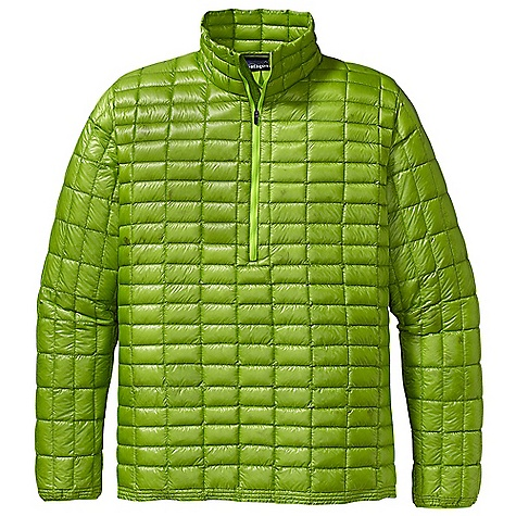 Free Shipping. Patagonia Men's Ultralight Down Shirt DECENT FEATURES of the Patagonia Men's Ultralight Down Shirt Super lightweight and strong 10-denier ripstop fabric with 800-fill-power premium European goose down Quilt pattern controls movement of down for optimal warmth Minimal silhouette with a 1/4-zip reduces weight Thermally efficient under a shell or as a stand alone layer Drawcord hem seals out cold Self-fabric stuff sack The SPECS Slim fit Weight: 5.9 oz / 167 g Shell and Lining: 0.8-oz 10-denier 100% nylon ripstop with a Deluge DWR finish Insulation: 800-fill-power premium European goose down This product can only be shipped within the United States. Please don't hate us. - $249.00