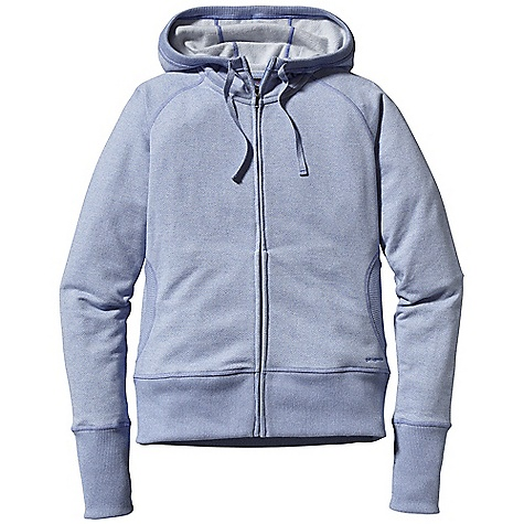 Free Shipping. Patagonia Women's Cloud Stack Hoody DECENT FEATURES of the Patagonia Women's Cloud Stack Hoody Soft, cozy organic cotton/polyester heathered fleece Organic cotton fleece hoody with full-length zipper and raglan sleeves Ribbing at hem and cuffs and at the opening of pockets and hood Hood with adjustable draw cord Hip length The SPECS Slim fit 9.7-oz 60% polyester 40% organic cotton brushed, heathered fleece This product can only be shipped within the United States. Please don't hate us. - $99.00