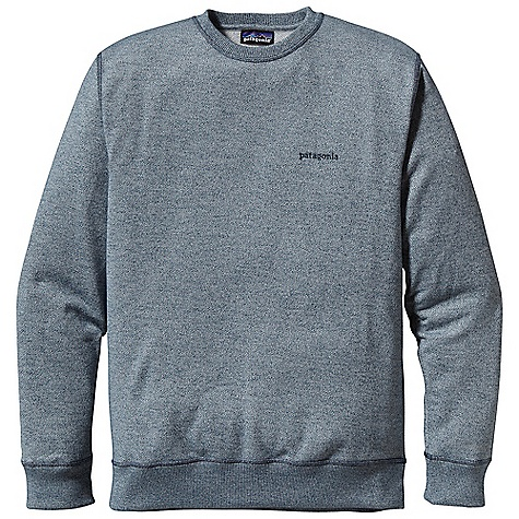 Free Shipping. Patagonia Men's Hallett Crew Sweatshirt DECENT FEATURES of the Patagonia Men's Hallett Crew Sweatshirt Made of a heathered polyester/organic cotton blend in a midweight fleece Classic crewneck sweatshirt with ribbed neck Self fabric at cuffs and hem Straight hem The SPECS Regular fit Fabric: 9.7-oz 60% polyester/40% organic cotton heathered fleece This product can only be shipped within the United States. Please don't hate us. - $79.00