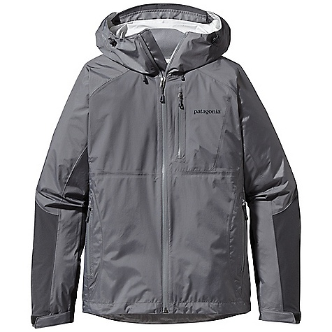 Free Shipping. Patagonia Women's Torrentshell Stretch Jacket DECENT FEATURES of the Patagonia Women's Torrentshell Stretch Jacket H2No Performance Standard waterproof/breathable 2.5-layer nylon ripstop shell, with 2.5-layer stretch panels in arms and across shoulders Helmet-compatible, 2-way-adjustable hood with laminated visor rolls down and stows Micro fleece-lined neck provides comfort and protects waterproof/breathable barrier Gusseted underarm panels let you reach without raising the jacket Watertight-coated center-front zipper with internal storm flap Pockets: two zippered hand warmers and one left chest pocket all with watertight, coated zippers and zipper garages Venting pit zips with watertight-coated 2-way zippers self-fabric hook and-loop cuff closures and adjustable draw cord hem seal out moisture The SPECS Regular fit Weight: 11.9 oz / 337 g H2No Performance Standard Shell: 2.5-layer, 2.4-oz 40-denier 100% nylon ripstop with a waterproof/breathable barrier and a Deluge DWR (durable water repellent) finish Reinforcement: 2.5-layer, 4-oz 40-denier 100% nylon with mechanical stretch, a waterproof/breathable barrier and a Deluge DWR finish This product can only be shipped within the United States. Please don't hate us. - $199.00