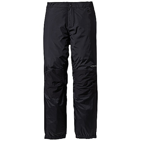 Free Shipping. Patagonia Women's Torrentshell Stretch Pant DECENT FEATURES of the Patagonia Women's Torrentshell Stretch Pant H2No Performance Standard waterproof/breathable 2.5-layer nylon ripstop shell, with 2.5-layer stretch panels at the knees for mobility Separating waist has watertight zip fly with snap closure, partially elasticized waistband and snap tab adjustments at side zips Full-length two-way side zips with watertight-coated zippers Elasticized cuffs with snap tab closures at ankles seal out moisture The SPECS Regular fit Weight: 10.1 oz / 286 g H2No Performance Standard Shell: 2.5-layer, 2.4-oz 40-denier 100% nylon ripstop with a waterproof/breathable barrier and a Deluge DWR (durable water repellent) finish Knees: H2No Performance Standard 2.5-layer, 4-oz 40-denier 100% nylon with mechanical stretch, a waterproof/breathable barrier and a Deluge DWR finish This product can only be shipped within the United States. Please don't hate us. - $169.00