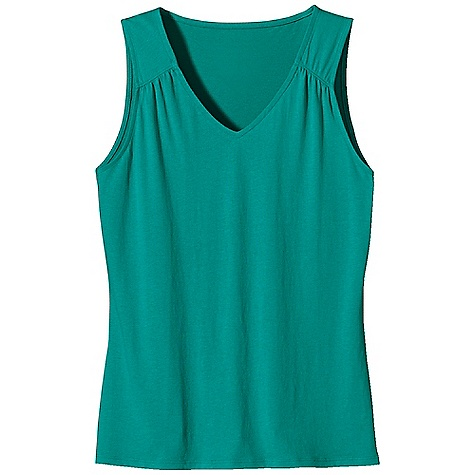 Surf Patagonia Women's Versatiliti Tank DECENT FEATURES of the Patagonia Women's Versatiliti Tank Plaited organic cotton and Tencel lyocell fabric is soft and comfortable Flattering scoop neck Gathers at back yoke and shoulders Shirring on hem Hip length The SPECS Regular fit 5.5-oz 62% organic cotton, 38% Tencel lyocell plaited jersey This product can only be shipped within the United States. Please don't hate us. - $39.00
