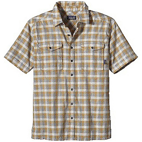 Free Shipping. Patagonia Men's Switchgrass Shirt DECENT FEATURES of the Patagonia Men's Switchgrass Shirt Made of a lightweight organic cotton woven with a leno weave and heathered yarns Button-front shirt patch pockets with flap closures Straight hem with side vents The SPECS Regular fit 3.9-oz 100% organic cotton textured plain weave This product can only be shipped within the United States. Please don't hate us. - $75.00
