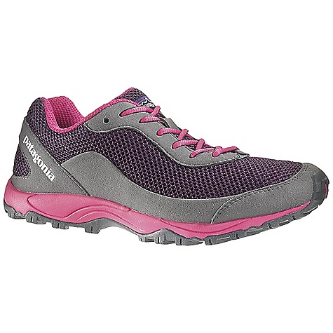 On Sale. Free Shipping. Patagonia Women's Fore Runner Shoe DECENT FEATURES of the Patagonia Women's Fore Runner Shoe Durable and breathable air mesh/synthetic leather upper; perforated nylon reinforcement provides durability Micro-fiber-reinforced rand and toe bumper provide durability and protection Reflective webbing and heel for high visibility 100% polyester moisture-wicking, ventilated air-mesh collar and tongue lining 15% recycled EVA anatomical perforated footbed supports, cushions and molds to the contour of your foot Forefoot shock absorption pad and flex grooves provide forefoot protection and flex with gender specific lightweight 15% recycled EVA footframe 4 mm drop: 9 mm heel, 5 mm toe 08mm forefoot shock absorptions plate distributes pressure, protecting the foot while maintaining forefoot flexibility Multi-density sticky rubber outsole provides 360-degree wet/dry traction in varying conditions 5mm thick; web 15mm; lugs 35mm Last characteristics: medium width, medium arch support, performance true to size The SPECS 219 g (7.76 oz) - $64.99