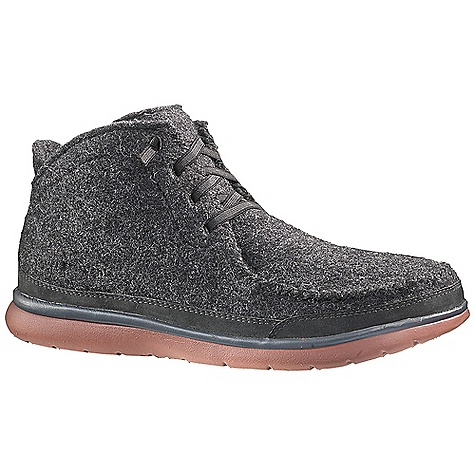 Free Shipping. Patagonia Footwear Men's Maui Larry Boot DECENT FEATURES of the Patagonia Men's Maui Larry Boot Mono tweed wool upper for warmth and comfort Nubuck leather rand for durability and protection Glove-like pigskin lining for comfort 20% Recycled EVA footbed provides support and comfort Patagonia Air Cushion Plus provides shock absorption 20% Recycled EVA midsole provides cushioning and comfort Maui high abrasion EVA outsole provides the ultimate lightweight platform Construction: Strobel Last Characteristics: Medium width, Full toe box, Medium arch/instep The SPECS Weight: 1/2 pair: 7.6 oz Better Leather Soft support/flex - $124.95