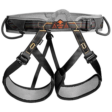 Climbing Free Shipping. Petzl Aspir Climbing Harness DECENT FEATURES of the Petzl Aspir Climbing Harness High-density foam leg loops and waistbelt with soft lining are comfortable with minimal bulk Adjustable leg loops allow size to be adjusted depending on comfort desired or layers of clothing worn, and allow the harness to be put on when wearing skis or crampons DoubleBack buckles for easy adjustability They help prevent incorrect manipulation Single Dyneema-reinforced tie-in point for increased durability Two flexible equipment loops stay out of the way while wearing a pack Detachable elastic leg loop straps Leg loops and waistbelt are color coded to facilitate donning Sizes are color coded for easy equipment management for guide services and group programs The SPECS Case Quantity: 5 Material: nylon webbing, polyester and Dyneema attachment point, polyethylene/EVA foam, perforated foam padding, woven polyester wicking mesh Certification(s): CE, EN 12,277 type C, UIAA 105 The SPECS for 0 Weight: 420 g Waist belt: 53 - 72 cm Leg loop: 40 - 58 cm The SPECS for 1 Weight: 450 g Waist belt: 68 - 94 cm Leg loop: 48 - 62 cm The SPECS for 2 Weight: 485 g Waist belt: 86 - 110 cm Leg loop: 57 - 70 cm ALL CLIMBING SALES ARE FINAL. - $59.95