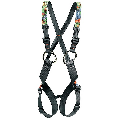 Climbing Free Shipping. Petzl Kids' Simba Full Body Harness DECENT FEATURES of the Petzl Kids' Simba Full Body Harness For children from 5 to 10 years old weighing under 40 kg Fully adjustable shoulder straps and leg loops for precise fit Bicolor webbing (black inside, colored outside) facilitates donning Four DoubleBack adjustment buckles The SPECS Weight: 390 g Leg loop max: 51 cm Torso length: 35 - 60 cm Case Quantity: 8 Material: High-strength nylon/polyester webbing Certification(s): CE, EN 12 277 type B, UIAA 105 ALL CLIMBING SALES ARE FINAL. - $59.95