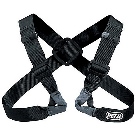 Climbing Free Shipping. Petzl Voltige Chest Harness FEATURES of the Petzl Voltige Chest Harness Two Double Back adjustment buckles Rear cross-over allows webbing straps to be correctly positioned Adaptable height tie-in point: Reversible design allows buckles to be positioned on the shoulders or under the arms - $57.95