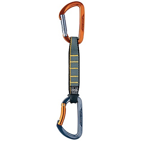 Climbing Petzl Spirit Express 11cm Anodized Quickdraw The SPECS Certification: CE EN 12275 type B / UIAA 3-year guarantee Sling: Romania Weight: 104 g Quick draw Breaking Strength: 22 kN Breaking Strength: Major Axis: 23 kN, Open Gate: 9.5 kN, Minor Axis: 10 kN Gate Opening: 20 mm Materials: Hot-forged aluminum 7000, nylon webbing ALL CLIMBING SALES ARE FINAL. - $24.95