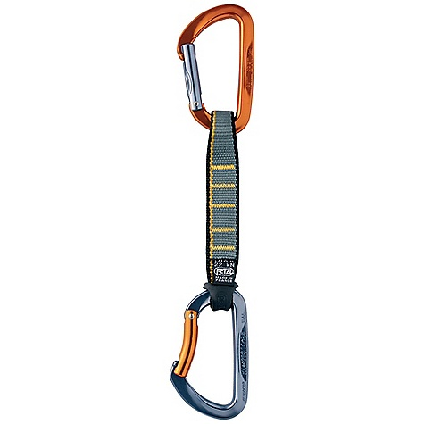 Climbing Petzl Spirit Express 17cm Anodized Quickdraw The SPECS Certification: CE EN 12275 type B / UIAA 3-year guarantee Sling: Romania Weight: 109 g Quick Draw Breaking Strength: 22 kN Breaking Strength: Major Axis: 23 kN, Open Gate: 9.5 kN, Minor Axis: 10 kN Gate Opening: 20 mm Materials: Hot-forged aluminum 7000, nylon webbing ALL CLIMBING SALES ARE FINAL. - $25.95