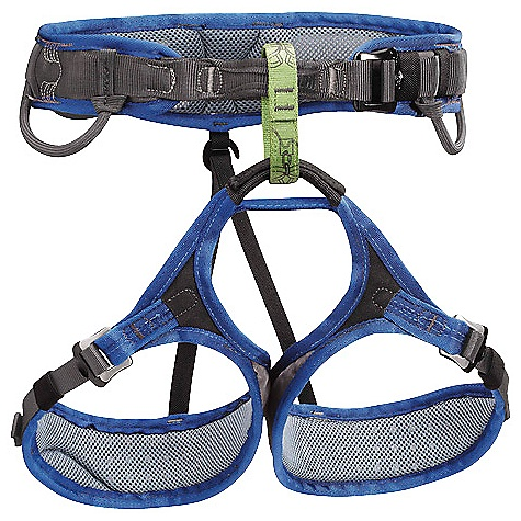 Climbing Free Shipping. Petzl Men's Adjama Climbing Harness DECENT FEATURES of the Petzl Men's Adjama Climbing Harness Frame Construction with breathable monofilament mesh evenly distributes pressure, providing maximum support and comfort Adjustable leg loops allow size to be adjusted depending on comfort desired or layers of clothing worn, and allow the harness to be put on when wearing skis or crampons Woven polyester mesh on the inside of the harness wicks moisture for improved comfort and speeds drying in wet conditions Perforated closed cell foam on the waistbelt and leg loops increases breathability DoubleBack buckles for easy adjustability They help prevent incorrect manipulation Green belay loop helps users identify proper tie-in / attachment point Reinforced tie-in points for increased durability in this high-wear area Rigid, inclined front equipment loops for easy access to gear; flexible rear loops stay out of the way while wearing a pack Trail line loop Two CARITOOL slots Detachable elastic leg loop straps The SPECS Case Quantity: 10 Material(s): nylon, polyester, EVA foam, polyurethane, aluminum Certification(s): CE EN 12277 type C, UIAA The SPECS for Small Weight: 390 g Waist Belt: 70 - 80 cm Leg Loop: 47 - 67 cm The SPECS for Medium Weight: 420 g Waist belt: 76 - 86 cm Leg Loop: 52 - 62 cm The SPECS for Large Weight: 470 g Waist belt: 85 - 95 cm Leg loop: 57 - 67 cm The SPECS for Extra Large Weight: 490 g Waist belt: 89 - 99 cm Leg loop: 60 - 70 cm ALL CLIMBING SALES ARE FINAL. - $85.95