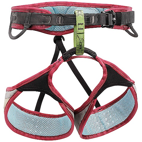 Climbing On Sale. Free Shipping. Petzl Women's Selena Climbing Harness DECENT FEATURES of the Petzl Women's Selena Climbing Harness Specific shape for female morphology Design guarantees excellent weight distributionfor optimal comfort Waistbelt and leg loops with doubled straps Waistbelt wider on the sides Specific stitching on the waistbelt limit hard points and chafing DoubleBack buckle allows quick and easy adjustment of the waistbelt Dyneema tie-in points for excellent resistance to rope friction Elastic leg loops remain permanently adjusted without restricting movement Four equipment loops: two rigid ones in front for quick and easy access to equipment and two flexible ones in the rear to avoid creating pressure points with a backpack Two slots for CARITOOL tool holder Rear loop for haul rope Detachable elastic leg loop straps The shape of the waistbelt is designed to fit a woman's physique The rise has been increased by lengthening the belay loop The waist-to-leg loop-size ratio has been reduced Frame Construction with breathable monofilament mesh evenly distributes pressure, providing maximum support and comfort Woven polyester mesh on the inside of the harness wicks moisture for improved comfort and speeds drying in wet conditions Perforated closed cell foam on the waistbelt and leg loops increases breathability DoubleBack buckles adjust easily with a single pull. They help prevent incorrect manipulation Green belay loop helps users identify proper tie-in / attachment point Reinforced tie-in points for increased durability in this high-wear area Elasticized leg loops have a large range of expansion for correct fit, while staying in place on the thighs Rigid, inclined front equipment loops for easy access to gear; flexible rear loops stay out of the way while wearing a pack Trail line loop The SPECS Case Quantity: 10 Material(s): nylon, polyester, EVA foam, polyurethane, aluminum Certification(s): CE EN 12277 type C, UIAA The SPECS for Small Weight: 340 g Waist Belt: 60 - 71 cm Leg Loop: 47 - 52 cm The SPECS for Medium Weight: 370 g Waist Belt: 67 - 81 cm Leg Loop: 52 - 57 cm The SPECS for Large Weight: 400 g Waist Belt: 74 - 89 cm Leg Loop: 57 - 62 cm The SPECS for XS Weight: 320 g Waist Belt: 58 - 69 cm Leg Loop: 43 - 48 cm ALL CLIMBING SALES ARE FINAL. - $55.96