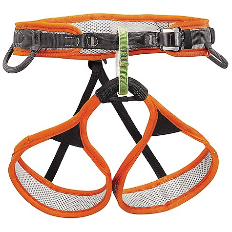 Climbing The Petzl Men's Hirundos Climbing Harness is a lightweight harness for Performance Climbing. Created for sport and alpine climbers, the FUSEFRAME Technology has constructed a super Slim design that stays comfortable thanks to a bit of foam and leaves the extra weight at home on the sofa. The DoubleBack HD buckle ensures quick and safe adjustments for Fit while the leg loops Are Fitted with some elastic for stretch and comfort. In other news, I'm not sure if 'Hirundos' means anything in particular, but it sounds like it could be a delicious meal to me. Features of the Petzl Men's Hirundos Climbing Harness Frame Construction with breathable monofilament mesh evenly distributes pressure, providing maximum support and comfort Woven polyester mesh on the inside of the harness wicks moisture for improved comfort and speeds drying Perforated closed cell foam on the waistbelt and leg loops increases breathability DoubleBack buckles adjust easily with a single pull. They help prevent incorrect manipulation Green belay loop helps users identify proper tie-in / attachment point Reinforced tie-in points for increased durability in this High-wear Area Elasticized leg loops have a large range of expansion for correct Fit, while staying in place on the tHighs Rigid, inclined 3D front equipment loops for easy access to gear; flexible rear loops stay out of the way while wearing a pack Two CARITOOL slots Detachable elastic leg loop straps - $74.96