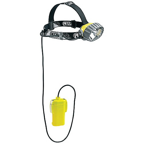 Camp and Hike On Sale. Free Shipping. Petzl Duobelt LED 14 Headlamp DECENT FEATURES of the Petzl Duobelt LED 14 Headlamp Rugged headlamp Durable construction Waterproof down to -5 meters Worn under clothing, the remote battery pack protects the batteries from the cold, helping to conserve their energy Long burn time Uses four large capacity batteries (C/LR14) Two powerful light sources to choose from, depending on the activity Halogen light for long-range, focused lighting Fourteen LEDs for flood beam proximity lighting, with three lighting modes (maximum, optimum, economic) Constant level of proximity lighting with a long burn time Fourteen regulated LEDs for a constant level of lighting until the batteries are almost discharged Automatically switches to reserve power mode when batteries are almost discharged Comfortable and easy to use Remote battery pack reduces the weight worn on the head to 140 g Adjust able and comfortable elastic headband On/off switch can be locked to prevent accident al operation Light body can be tilted Space for spare halogen bulb in the light body of the headlamp The SPECS Certification: CE Weight: 550 g Weight Worn on Head: 140 g Beam Pattern: Wide or focused Light Quantity: 67 lumens Lighting Distance: Halogen: t = 0: 100 m, t = 0 h 30: 80 m, t = 10 h: 35 m, LEDs: Maximum Mode: t = 0 t = 0 h 30: 34 m --> 9h30, t = 10 h: 9 m, LEDs: Optimum Mode: t = 0, t = 0 h 30, t = 10 h, t = 30 h: 15 m --> 210 h Battery Life: Halogen: 11h30, LEDs: Maximum Mode: 294h30, LEDs: Economic Mode: 430 h Constant Lighting: Yes Number of Batteries: 4 Battery Type (included): C/LR14 Water Tightness: IP X8 (waterproof down to -5 meters) Spare halogen bulb included - $169.95