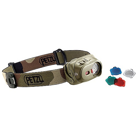 Camp and Hike Free Shipping. Petzl Tactikka XP Headlamp DECENT FEATURES of the Petzl Tactikka XP Headlamp Discreet proximity lighting preserving night vision Transparent Wide Angle lenses included Interchangeable lenses Carrier for second lens located on headband A single light source that addresses multiple lighting needs Three lighting levels (maximum, optimum, economic) Two lighting modes (continuous and flashing) Flood beam for sharp proximity lighting (Wide Angle lens) Spot beam shines up to 35 meters Boost Mode: Shines 50 meters for up to 20 seconds Compact and lightweight Single compartment contains LED and batteries Weighs less than 100 g including batteries Battery charge indicator light Warns when the batteries are 70% and 90% discharged The SPECS Certification(s): CE Case Quantity: 52 Weight (with batteries): 95 g Beam Pattern: Wide or focused Maximum Light Quantity: 40 lumens Maximum Lighting Distance: 35 m Maximum Battery Life: 120 h Number of Batteries: 3 Boost Mode: 50 m Battery Type (included): AAA/LR03 Water Tightness: IP X4 (water resistant) Material(s): Wide Angle lenses (red, green, blue and trans parent) made of impact resistant polycarbonate Maximum mode: Light Quantity: 40 lumens, Distance t=0: 35 m, Distance t=0h30: 30 m, Distance t=10h00: 20 m, Distance t=30h00: 7 m, Battery life: 60 h Optimum mode: Distance t=0: 27 m, Distance t=0h30: 25 m, Distance t=10h00: 19 m, Distance t=30h00: 9 m, Battery life: 80 h Economic mode: Distance t=0: 18 m, Distance t=0h30: 17 m, Distance t=10h00: 15 m, Distance t=30h00: 13 m, Battery life: 120 h - $59.95