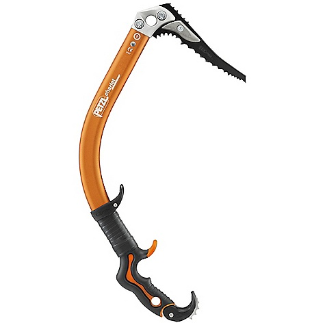 Climbing Free Shipping. Petzl Ergo Ice Tool DECENT FEATURES of the Petzl Ergo Ice Tool High-end dry tooling and ice climbing axe The ultimate tool for the most difficult dry tooling pitches and the most unlikely ice columns. The ultra-curved shaft offers exceptional clearance under the head and allows a wider repertoire of movement The adjustable ergonomic handle allows multiple grip positions and limits the risk of pick shift when switching hands. The strong curve of the handle creates an ideal angle for prolonged suspensions and significantly increases power when pulling. Equipped with MASSELOTTES pick weights, the ERGO ensures precise, efficient purchase in the ice Without the MASSELOTTES pick weights, the ERGO becomes considerably lighter for dry tooling Equipped with a HAMMER (optional), the ERGO can be used to place pitons Interchangeable DRY pick is tapered at the tip (3 mm) for easy penetration, even in cold ice. GRIPTAPE on the upper handle provides better grip and thermal insulation Serrated blade under the GRIPREST for better hold coming out of steep sections in hard snow or ice Third adjustable handle with TRIGREST hand rest for climbing even higher, when hooking makes it possible, or for switching hands more easily ALL CLIMBING SALES ARE FINAL. - $340.00