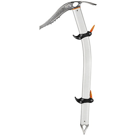 Climbing Free Shipping. Petzl SUM-TEC Adze Ice Axe DECENT FEATURES of the Petzl SUM-TEC Adze Ice Axe Lightweight technical ice axe efficient in climbing or piolet canne mode New version of the Trigrest allows multiple hand grip possibilities, thanks to the simple, tool-free manual adjustment system Thin Alpix pick (3.5 mm) is designed for efficient penetration into ice Pick can be quickly and securely replaced with a unique screw lock system Stainless steel spike ensures excellent grip on rock Lightly curved handle protects the hand when climbing Adze version for efficient cleaning of snow and ice Wide oval holes in the head and in the spike accommodate a carabiner The SPECS Pick type: B Shaft type: T Interchangeable ALPIX pick included Certification(s): CE, UIAA Made in France 3 year guarantee The SPECS for 52cm Weight: 485 g Shaft Length: 52cm The SPECS for 59cm Weight: 505 g Shaft Length: 59cm ALL CLIMBING SALES ARE FINAL. - $195.00