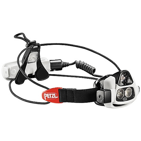 Camp and Hike On Sale. Free Shipping. Petzl NAO Headlamp DECENT FEATURES of the Petzl NAO Headlamp Headlamp with Reactive Lighting technology has a sensor to detect ambient lighting, allowing it to adapt its beam pattern and the power of its two LEDs instantly and automatically to lighting needs. The NAO headlamp Offers adapted, comfortable lighting Keeps the hands free longer Increases lighting duration by making optimal use of the energy source Two lighting modes available Reactive Lighting mode Continuous mode Customized lighting with OS by Petzl software (free for download at www.petzl.com/OS) allows the user to Regulate light intensity and lighting time and distance based on the activity Register up to 4 activity profiles on the headlamp for direct activation based on your needs Create up to 5 lighting levels per mode Create and share personalized profiles Li-Ion rechargeable battery Performs well at low temperatures Easily rechargeable with the integrated USB connection (compatible with all USB chargers: cell phone, MP3 player, computer, portable energy source, solar panel, car cigarette lighter, etc.) With battery charge indicator Can be replaced, if necessary, with two AAA/LR03 batteries (reduced performance) Multifunction on/off switch can be locked to avoid accidentally turning it on when stored/transported Headlamp is stable on the head with the Zephyr adjustable headband, which easily tucks away when transporting the headlamp, and the extra top strap for technical activities Optional belt kit for NAO (E36R10) allows the rechargeable battery to be moved to the belt to reduce the weight worn on the head, or to keep it warm in winter The SPECS Certification(s): CE Case Quantity: 25 Weight: 187 g Beam Pattern: Wide or focused Resists extreme temperatures (-30deg C to + 50deg C) Lithium-Ion 2300 mAh rechargeable battery with an estimated battery life of 300 cycles (beyond this, the battery's capacity is approximately 30 % lower than initially) Product comes with Lithium-Ion rechargeable battery 30 cm USB cable Top strap Packaging completely separable for recycling Water Tightness: IP X4 Reactive Lighting Technology: Level 1: Light Quantity: 7 - 355 lumens, Distance= 9 - 108 m, Battery life: ~ 4 h 40, Level 2: Light Quantity: 7 - 98 lumens, Distance= 9 - 55 m, Battery life: ~ 8 h Constant Lighting: Level 1: Light Quantity: 315 lumens, Distance= 93 m, Battery life: 1 h 20, Level 2: Light Quantity: 88 lumens, Distance= 48 m, Battery life: 8 h - $174.95
