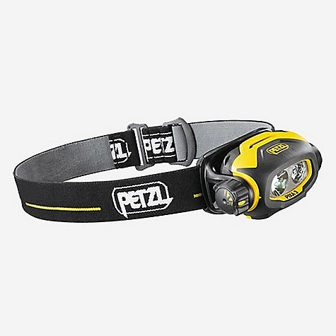 Camp and Hike Free Shipping. Petzl Pixa 3 Headlamp DECENT FEATURES of the Petzl Pixa 3 Headlamp Headlamp keeps the hands free for work Can be worn on the head with the headband, mounted on a helmet, or placed on the ground Mounting plate for helmets without headband (included) Three lighting modes A mode adapted for close-range work: wide, uniform beam, lights to 15 meters for 12 hours (30 lumens) A mode adapted for movement: mixed beam with focused component allows user to move around comfortably, lights to 30 meters for 6 hours (40 lumens) A mode adapted for long-range vision: highly focused beam, lights to 55 meters for 3 hours (50 lumens) Constant lighting, guaranteed lighting performance that does not diminish during its entire lifetime Reserve lighting when batteries are almost discharged: lights to 10 meters for a minimum of 10 hours Easy to use, even when wearing gloves Three-mode rotating selector dial Lamp body can be oriented to direct the light according to need (rotation up to 45deg) Fast and easy battery change Excellent resistance to falls (2 m), to impacts and to crushing (80 kg) Storage position protects the glass and keeps headlamp from being turned on accidentally Comfortable and adjustable headband, easily detached for washing Battery charge indicator flashes repetitively Resistant to chemicals Burn time can be doubled by using Lithium Ion batteries or rechargeable Ni-MH batteries Includes PIXA headlamp and adjustable headband, helmet plate, 2 AA / LR6 batteries, and technical information Petzl 3 year guarantee The SPECS Weight: 160 g Regulated lighting: yes Number of batteries: 2 Battery type (included): AA/LR6 Battery compatibility: alkaline, lithium, rechargeable Ni-MH, rechargeable Ni-Cd Watertightness: IP 67, waterproof to -1 m for 30 minutes, no maintenance required after immersion CERTIFICATIONS CE ATEX: CE0080, Ex II 3 GD, Ex nAnL IIB T4 HAZLOC: class I Groups C and D div II, Class II Group G div II ANSI/NEMA FL1 (guaranteed ONLY with alkaline batteries) - $74.95