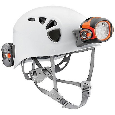 Climbing Free Shipping. Petzl Spelios Caving Helmet DECENT FEATURES of the Petzl Spelios Caving Helmet Complete Lighting Solution Durable, lightweight, ventilated helmet Electric lighting is lightweight and easy to use Waterproof down to-5 meters Two powerful light sources to choose from, depending on the activity Halogen light for long-range, focused lighting Fourteen LEDs for flood beam proximity lighting, with three lighting modes (maximum, optimum, economic) Constant level of proximity lighting with a long burn time Fourteen regulated LEDs for a constant level of lighting until the batteries are almost discharged Automatically switches to reserve power mode when batteries are almost discharged Comfortable, easy to use lighting On/off switch can be locked to prevent accidental operation Light body can be tilted Space for spare halogen bulb in the light body of the headlamp The SPECS Weight (with batteries): 505 g Beam Pattern: wide or focused Maximum Light Quantity: 67 lumens Maximum Lighting Distance: 100 m Maximum Battery Life: 183 h Regulated Lighting: yes Number of Batteries: 4 Battery Type (included): AA/LR6 Battery compatibility: Alkaline, lithium, rechargeable Ni-MH, rechargeable Ni-Cd Watertightness: IP X8 (waterproof down to-5 meters) Material: Shell made of injection-molded Polycarbonate (for scratch and impact resistance), liner made of expanded polypropylene foam (for shock absorption) Spare halogen bulb included Operates on four AA / LR6 batteries or ACCU DUO (not included) Certification(s): CE EN 12492, UIAA The SPECS for 1 Weight: 505 g Head Circumference Minnimum: 48 cm Head Circumference Maximum: 56 cm Case Quantity: 12 The SPECS for 2 Weight: 535 g Head Circumference Minnimum: 53 cm Head Circumference Maximum: 61 cm Case Quantity: 10 ALL CLIMBING SALES ARE FINAL. - $230.00