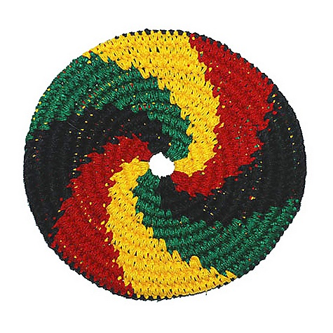 Pocket Disc Swirled Sport Disc There is a mean guy in the buying department that throws paper balls at my head. All. Day. Long. I'm glad he has finally bought something that is actually meant to be thrown. The crocheted design is light and colorful, and will fly pretty far. So there is a chance that this Pocket Disc Swirled Sport Disc just might fly right over my head. Until then, paper balls. All day. Everyday. - $15.95