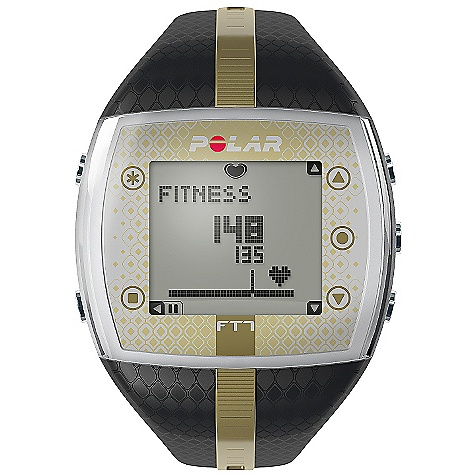 Fitness Free Shipping. Polar FT7 Women's Heart Rate Monitor (Fall 2010) FEATURES of the Women's FT7 Heart Rate Monitor by Polar The EnergyPointer tells you if the main effect of your training is fitness improvement or fat burning Displays calories burned Comes with comfortable WearLink + textile transmitter and has coded heart rate transmission to avoid cross-talk Connects to your online training diary at polarpersonaltrainer.com with optional Polar FlowLink Basic Features Backlight Graphical target zone indicator Heart rate (displayed as % of maximum heart rate) Heart rate (displayed as bpm) HeartTouch, button-free operation of wrist unit KeyLock Manual target zone (% / bpm) - upper limit Water resistant - 50m Data Transfer Compatible with polarpersonaltrainer.com with Polar FlowLink Language Features Display text in English, German, Finnish, French, Portuguese, Spanish and Italian Polar Exercise Features Average heart rate of total exercise Exercise Date Maximum heart rate of total exercise Polar EnergyPointer Polar OwnCal Polar OwnCode (5kHz) Wireless ECG accurate heart rate Recording features Average heart rate Calorie expenditure Exercise Time (total) Exercise file info page with date and time Maximum heart rate Number of exercise files (with summaries) - 99 Transmitter Belt WearLink + transmitter (user changeable battery) Watch Features Alarm with snooze Date and weekday indicator Dual time zone Low battery indicator StopWatch Time of day (12/24h) with alarm User replaceable battery Includes Manual Polar FT7 Polar WearLink + transmitter - $109.95