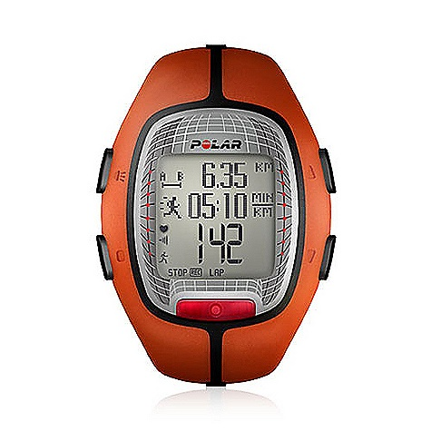 Fitness Free Shipping. Polar RS300X Heart Rate Monitor FEATURES of the RS300X Heart Rate Monitor by Polar Helps you to train at the right intensity with personal training zones Displays how many calories you've burned Tracks your latest 16 training sessions and your last 16 weeks of training Transfers training data to polarpersonaltrainer.com with optional Polar FlowLink Basic Features Automatic/Manual target zone (% / bpm / HRR%) Backlight Display zoom Easy start (setting wizard) Event Countdown Timer Graphical target zone indicator Heart rate (displayed as % of maximum heart rate) Heart rate (displayed as bpm) HeartTouch, button-free operation of wrist unit KeyLock Over-sized display User configurable displays Visual and audible alarm in target zones Water resistant - 50m Two lines Cycling Features Bike mount - optional Data Transfer Compatible with polarpersonaltrainer.com with Polar FlowLink GPS Features Battery type - optional Full power mode (up to 30 hours with an optional lithium battery) - optional Low battery indicator - optional Low power battery mode - optional SIRF-III chipset - optional Shock resistant - optional Speed and Distance - optional WAAS support (wide area augmentation system) - optional Water resistant - optional Language Features Display text in English, German, French and Spanish Polar Exercise Features Automatic lap recording - optional Average heart rate of each lap Average heart rate of total exercise Exercise Date Exercise Set (extended exercise profiles) HR-based target zones with audible alarm - 3 HR-based target zones with visual alarm - 3 HRmax (Polar Fitness test-based) HRmax (age-based) Interval trainer (HR, pace, distance) guided workouts Maximum heart rate of each lap Maximum heart rate of total exercise Number of laps - 99 Polar Fitness Test with OwnIndex Polar OwnCal Polar OwnCode (5kHz) Polar OwnZone Polar sport zones Speed-based target zones with visual and audible alarm - optional Wireless ECG accurate heart rate ZoneLock ZonePointer Recording Features Average heart rate Calorie expenditure - exe.total Exercise Time (total) Exercise file info page with date and time Lap info Last OwnIndex Maximum heart rate Number of exercise files (with summaries) - 16 Target zone limits Time in target zone Running Features Distance summaries - optional G1 GPS Sensor - optional Run Distance - optional S1 foot pod - optional Speed displayed in pace, or kmph/mph - optional Speed/Pace and Distance - optional Speed/Pace summaries - optional Speed/Pace target zones - optional Target pace - optional Target pace alarms - optional Time and Distanced based interval timer - optional Totals mileage, kilocalories, time training - optional Trip Odometer - optional Transmitter Belt WearLink + 31 coded transmitter (changeable battery) Watch Features Alarm with snooze Date and weekday indicator Dual time zone Low battery indicator StopW - $149.95