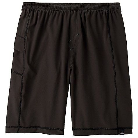 Fitness The Men's Flex Short by Prana. Flex Short: If you're like us, your best days involve several different sports. We built this short with recycled polyester and a bit of spandex for mobility, and added a Coolmax short style liner and a side stash pocket. Features of the Prana Men's Flex Short Multi-sport short Great for yoga, running, and training Lightweight, moisture wicking, stretch recycled polyester shell DWR coated Built in Coolmax cycling short style liner Side stash pocket Elastic waist with internal drawcord Stretch fabrication extends, expands and contracts to move with you allowing for ultimate flexibility during any sport, activity or movement The method of recycling materials back into new fibers, reducing the product's environmental impact Moisture management fabrics wick perspiration moisture from the inside out Water resistant, these products keep moisture on the fabric's surface making it easy for the sun and air to lift moisture out and promote evaporation - $37.99