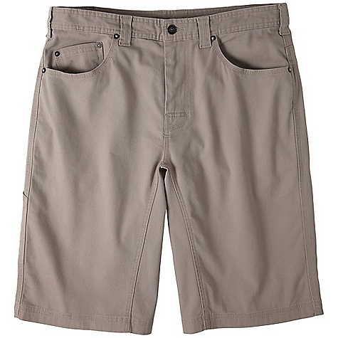 On Sale. Free Shipping. Prana Men's Bronson Short DECENT FEATURES of the Prana Men's Bronson Short 5-Pocket styling Reinforced rivet detailing Triple needle stitching for durability Full inseam gusset The SPECS Weight: 76 oz / square yd Inseam: 12in. / 30.5 cm Waist: 33in. / 83.8 cm Fabric: 98% Cotton / 2% Spandex - $40.99