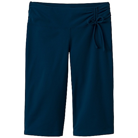 Free Shipping. Prana Women's Mackenzie Knicker DECENT FEATURES of the Prana Women's Mackenzie Knicker Chakara performance fabric Elegant shirred waistband with drawcord detail Gusset for added comfort Inseam: 14in. / 35.5 cm Standard fit Standard Rise - $64.95