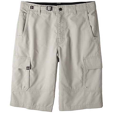 Free Shipping. Prana Men's Titan Short DECENT FEATURES of the Prana Men's Titan Short Peached lightweight cotton blend twill fabrication Cargo short with gusseted crotch Adjustable cinch waist system Inseam: 33in. / 83.8 cm, Waist: 13in. / 33 cm Standard Fit The SPECS 70 Cotton / 30 Polyester - $69.95