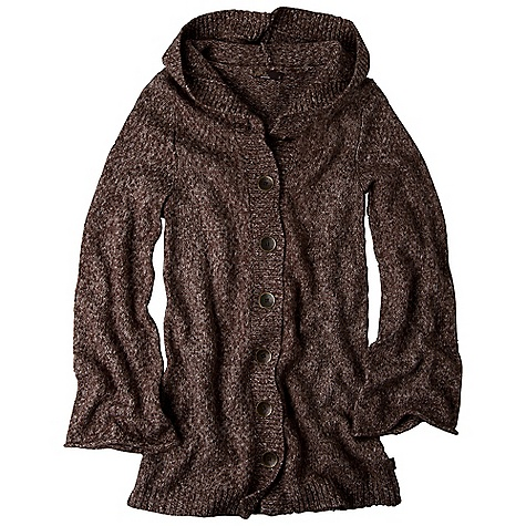 On Sale. Free Shipping. Prana Women's Willow Duster DECENT FEATURES of the Prana Women's Willow Duster Duster length sweater with novelty metal buttons Textural yarn interest The SPECS Fabric: 55 Cotton / 34 Acrylic / 10 Polyester / 1 Spandex - $53.99