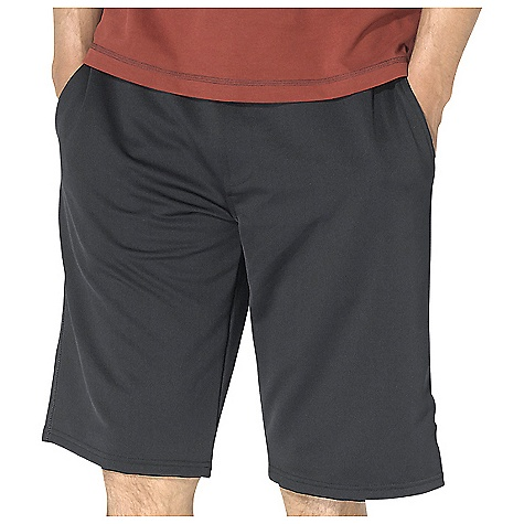 On Sale. Free Shipping. Prana Men's Ardha Knit Short DECENT FEATURES of the Prana Men's Ardha Knit Short Performance French terry short with rib waistband Wrinkle free and quick moisture transport fabrication to keep you dry Contrast stitching and contoured waistband Elasticized waistband and external draw cord Front side pockets The SPECS Weight: 4.8 oz / square yd Inseam: Medium: 12.25in. / 31.1 cm Fabric: 94% Polyester / 6% Spandex - $37.99