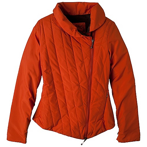 Free Shipping. Prana Women's Parfait Jacket DECENT FEATURES of the Prana Women's Parfait Jacket Insulated matte poly zip jacket with DWR coating Contrast front quilting and lining Draped collar Front on-seam zip pockets 60 gram fill Standard fit The SPECS Outer / Lining / Fill: 100 Polyester - $118.95