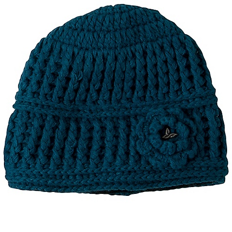 Entertainment Prana Women's Betty Beanie DECENT FEATURES of the Prana Women's Betty Beanie Knit beanie with knitted flower on wearer's front left Prana trim detail within flower Inner fleece band Standard Fit The SPECS Fabric: 100 Acrylic - $29.95