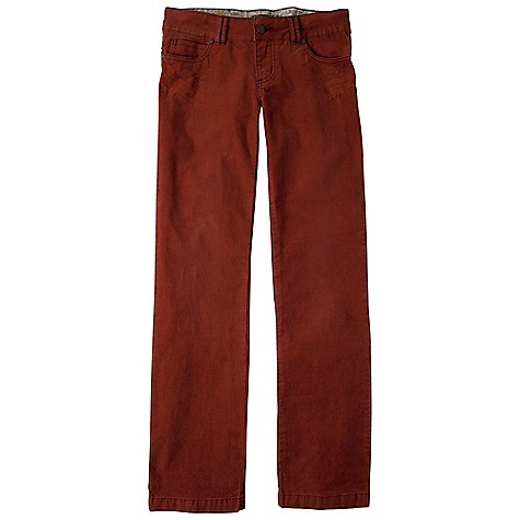 On Sale. Free Shipping. Prana Women's Canyon Pant DECENT FEATURES of the Prana Women's Canyon Pant 5-pocket corduroy pant Printed waistband lining and belt loop details Added stretch for great fit and comfort Size 4= 32in. (81.3 cm) inseam Standard Fit The SPECS Fabric: 98 Cotton / 2 Spandex Weight: 9.6 oz - $46.99