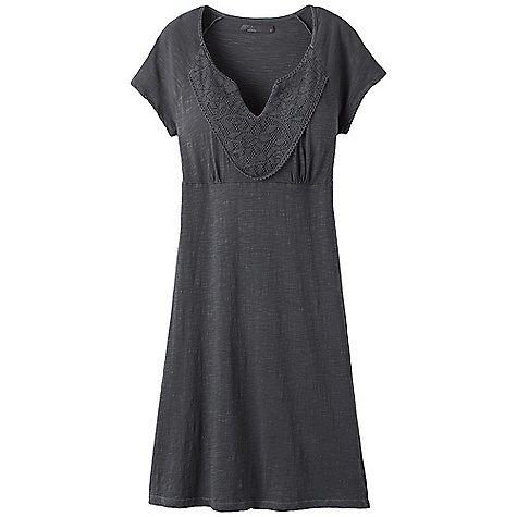 Entertainment On Sale. Free Shipping. Prana Women's Seaside Dress DECENT FEATURES of the Prana Women's Seaside Dress Organic cotton t-shirt dress Dyed to match crochet lace panel at front yoke Pigment dyed The SPECS Outseam: small: 27in. Fabric: 100% Organic Cotton - $41.99