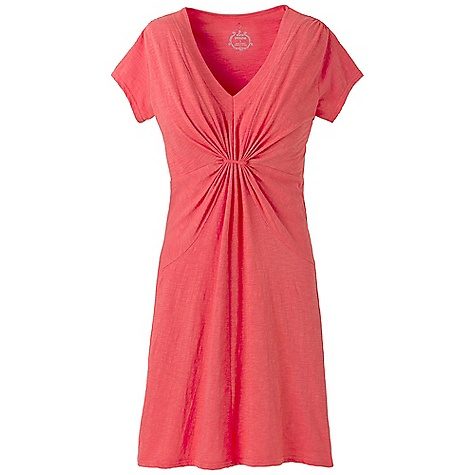 Entertainment On Sale. Free Shipping. Prana Women's Suzy Dress DECENT FEATURES of the Prana Women's Suzy Dress Organic cotton slub dress Easy wearing Gathered fabric at center front body creates illusion of a twist for added interest Flattering fit The SPECS Outseam: small: 29.25in. Fabric: 100% Organic Cotton - $40.99