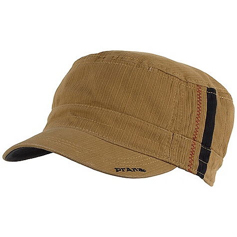 On Sale. Prana Westen Cadet Hat DECENT FEATURES of the Prana Westen Cadet Cadet style Classic fit Bedford corduroy fabrication with striped side details Custom printed logo liner The SPECS Fabric: 100% Cotton - $21.99