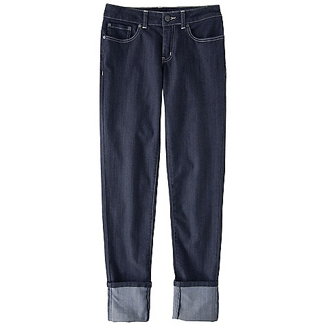 Free Shipping. Prana Women's Kara Cuffed Jean DECENT FEATURES of the Prana Women's Kara Cuffed Jean Soft stretch 'Kara' denim 5 pocket jean Back patch pockets Rivets 28.5in. / 72.4 cm inseam when cuff is folded (5in. fold) Fitted Low rise The SPECS 79 Cotton / 19 Polyester / 2 Spandex 8.5 oz / sq yd - $74.95