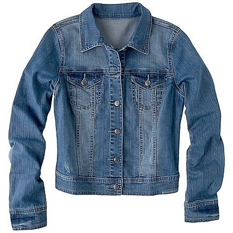 On Sale. Free Shipping. Prana Women's Denim Jacket DECENT FEATURES of the Prana Women's Denim Jacket Button up stretch denim jacket Distressed and enzyme wash for style and softness Scrunching at sleeve hems for added interest The SPECS Fabric: 98% Cotton / 2% Spandex - $44.99