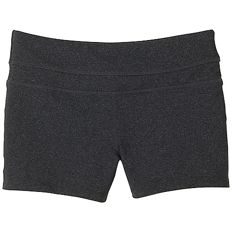 Free Shipping. Prana Women's Audrey Short DECENT FEATURES of the Prana Women's Audrey Short Chakara performance fabric Tonal self inset detail at waistband Elastic inside waist construction Gusset for added comfort Fitted Standard rise The SPECS Inseam: 3in. / 7.62 cm Solid: 88 Supplex Nylon / 12 Lycra Spandex Heather: 48 Nylon / 45 Polyester / 7 Spandex 8.8 oz / sq yd - $49.95