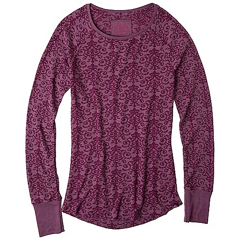 Free Shipping. Prana Women's Amelia Top DECENT FEATURES of the Prana Women's Amelia Top All-over medallion burnout 1x1 rib knit trim Contrast ladder stitch at side seams The SPECS Fabric: 77 Polyester / 23 Cotton - $54.95